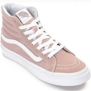 LIGHT MAUVE PINK VANS SK8 HI SNEAKERS LIKE NEW